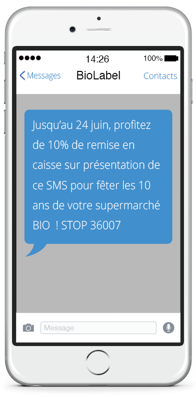 1. SMS Promotionnel ou SMS Marketing
