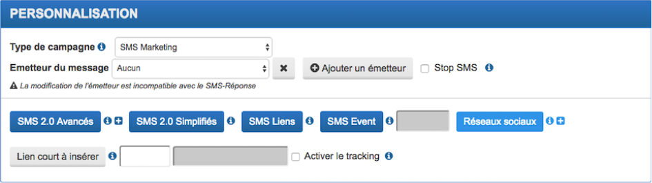 iSendPro telecom SMS feature : change the SMS sender identification
